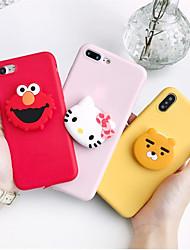 Недорогие -чехол для яблока iphone xr / iphone xs max pattern / с подставкой на задней крышке мультяшный мягкий тпу для iphone x xs 8 8plus 7 7plus 6 6plus 6s 6s plus