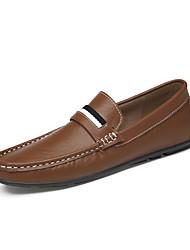 abordables -Homme Chaussures de confort Cuir Printemps / Eté Business / Classique Mocassins et Chaussons+D6148 Ne glisse pas Blanc / Noir / Brun claire