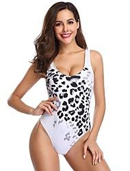 voordelige -Dames Standaard Wit Driehoek String Hoge taille Eendelig Zwemkleding - Geometrisch Blote rug M L XL Wit