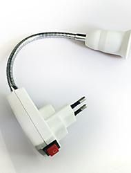 cheap -1pc EU Plug to E27 E14 100-240 V Converter Plastic Light Bulb Socket