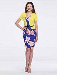 cheap -Women's Sheath Dress Royal Blue XL XXL XXXL