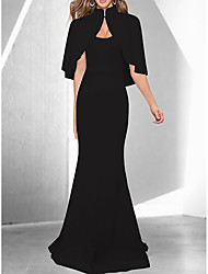 cheap -Women's Sophisticated Elegant Trumpet / Mermaid Dress - Solid Colored White Black Red L XL XXL