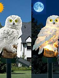 Недорогие -сова солнечный свет с солнечной светодиодной панели поддельные сова водонепроницаемый солнечный сад огни сова орнамент животных птица открытый двор садовые фонари