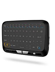 Недорогие -2,4 ГГц мини беспроводная клавиатура с подсветкой полноэкранная мышь сенсорная панель комбо для ПК, Android TV Box, PS3