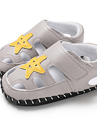 billige -Drenge / Pige PU Sandaler Spædbørn (0-9m) / Toddler (9m-4ys) Første gåsko Sort / Grå / Brun Sommer