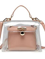 Χαμηλού Κόστους -Γυναικεία Τσάντες PVC Τσάντα χειρός Συμπαγές Χρώμα Ρουμπίνι / Ανθισμένο Ροζ / Κίτρινο