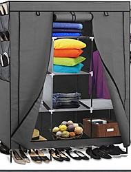 Недорогие -серый 69-дюймовый портативный шкаф организатор обуви шкаф для спальни шкаф