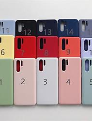 abordables -Funda Para Huawei Huawei Nova 4 / Huawei Mate 20 Pro Congelada Funda Trasera Un Color Suave TPU para Huawei Nova 4 / Huawei Mate 20 lite / Huawei Mate 20 pro