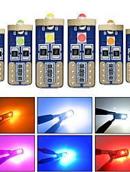 Недорогие -10 шт. T10 w5w canbus свет в салоне автомобиля 194 501 3 smd 3030 светодиодные фонари инструмент лампы клин свет без ошибок 12 В 6000 К