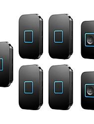 Недорогие -беспроводной дверной звонок два буксира пять беспроводной пейджер интеллектуальная электронная музыка дверной звонок домой дверной звонок