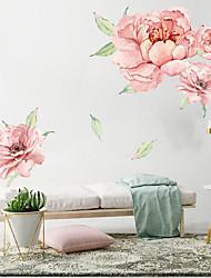 Недорогие -большие розовые цветы настенные наклейки - слова&ампер цитаты стикеры на стенах персонажей кабинет / кабинет / столовая / кухня