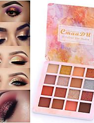 Недорогие -Марка cmaadu 16 цвет блестящий металлический жемчуг тени для век водонепроницаемый матовый тени для век прочного макияжа глаз