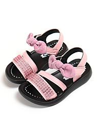 お買い得  -女の子 PUレザー サンダル ビッグキッズ(7年以上) コンフォートシューズ ホワイト / ライトピンク 夏