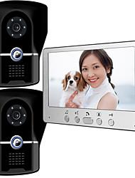olcso -815fg21 ultra-vékony 7 hüvelykes vezetékes videó ajtócsengő hd villa videó intercom kültéri egység éjszakai látás eső kinyit funkció