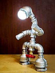 Недорогие -ретро промышленный ветер настольный светильник из железной трубы настольная лампа для кабинета / офиса / для дома металл 220v