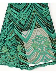 저렴한 -아프리카 레이스 꽃 패턴 130 cm 폭 구조 용 특별 행사 팔린 ~에 의해 5 야드
