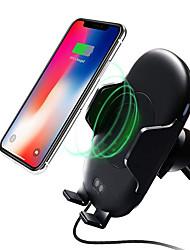 Недорогие -Ци беспроводной автомобильное крепление инфракрасный датчик движения держатель телефона зарядное устройство для автомобильного вентиляционного отверстия 10 Вт быстрая зарядка для samsung galaxy s9 s9