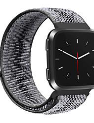 Недорогие -красочный спортивный нейлоновый ремешок для часов fitbit versa умные часы женщины мужчина