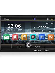 Недорогие -7 дюймов Bluetooth 2 DIN зеркало ссылка для Android 8.0 поддержка задней камеры автомобильный радиоприемник жк-сенсорный экран автозвук FM 2 DIN 7036b