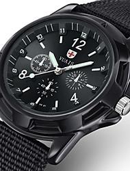 Недорогие -Муж. Армейские часы Морские часы с печатью Кварцевый Нейлон Черный / Синий / Цвет клевера 30 m Защита от влаги Новый дизайн Фосфоресцирующий Аналого-цифровые На открытом воздухе Мода - / Два года