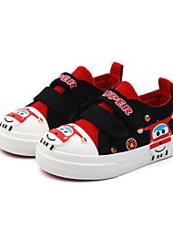 ราคาถูก -เด็กผู้ชาย / เด็กผู้หญิง ผ้าใบ รองเท้าผ้าใบ เด็กวัยหัดเดิน (9m-4ys) / เด็กน้อย (4-7ys) ความสะดวกสบาย สีดำ / น้ำเงินเข้ม / แดง ฤดูใบไม้ผลิ / ฤดูร้อน