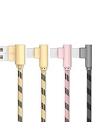 Недорогие -20 см (0,65 фута) тип-с USB-кабель, оплетка / быстрая зарядка USB-кабель из нержавеющей стали для Samsung Huawei Xiaomi Sony LOVE HTC Nokia Motorola LG и т. Д.