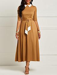 Недорогие -Жен. Элегантный стиль С летящей юбкой Платье Средней длины