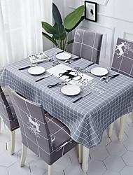 halpa -Nykyaikainen Klassinen Puuvilla polyesterikuitua Neliö Cube Table Cloths Table Linens Geometrinen Patterned Tulostus Ekologinen Vedenkestävä Pöytäkoristeet