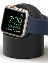 baratos -Suporte do carregador de doca para apple watch 1 2 3 4 38mm 42mm suporte de silicone suporte do berço de carregamento para iwatch esporte
