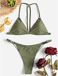 abordables -Mujer Bikini Bañadores - Un Color S M L