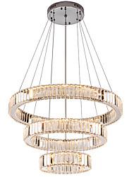 Недорогие -Современное зеркало из нержавеющей стали кристалл освещения 3 кольца светодиодные подвесные светильники Cristal Dinning декоративные люстры подвесной светильник 110-120 В / 220-240 В