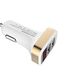 Недорогие -Цифровой мониторинг напряжения Dual USB портов многофункциональное автомобильное зарядное устройство прикуриватель автомобильное зарядное устройство
