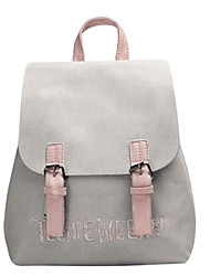 cheap -Women's Bags PU(Polyurethane) Commuter Backpack Tiered Black / Blushing Pink / Gray
