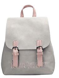 Недорогие -Жен. Мешки PU рюкзак Несколько слоев Черный / Розовый / Серый