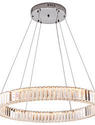 Недорогие -светодиодное кольцо подвесной светильник светодиодные хрустальные люстры освещение подвесной светильник потолочные светильники светильники для внутреннего дома столовая кафе отель 110-120 В / 220-240
