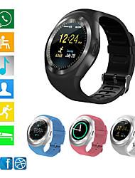 Недорогие -bluetooth y1s умные часы relogio android smartwatch телефонный звонок gsm sim дистанционный дисплей информации о камере спортивный шагомер