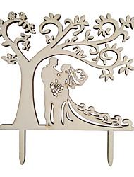 Недорогие -Украшения для торта Пляж / Сад / Бабочки Дерево / Бамбук Свадьба / Особые случаи с Однотонные 1 pcs Пенополиуретан