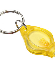 Недорогие -2x мини светодиодный фонарик ключ брелок фонарик кемпинг туризм желтый