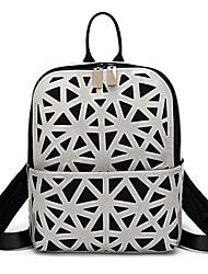 billige -Dame Tasker PVC rygsæk Udhulet Geometrisk mønster Gul / Brun / Sølv