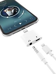 Недорогие -2 в 1 зарядке музыки для наушников с подсветкой 3,5 мм аудио кабель адаптера для iphone