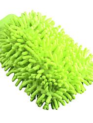 Недорогие -1шт синель Перчатки для мойки автомобилей Многоразового использования Зеленый 10*10*2 cm
