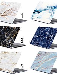 halpa -marmorikotelo MacBook Pro 11-15 -tietokonekotelolle 2018 2017 2016 julkaisu a1989 / a1706 / a1708 kosketusnauhalla PVC-kova valkoinen kuori / musta sumppu