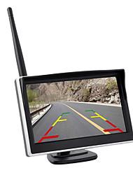 Недорогие -5-дюймовый автомобильный HD встроенный беспроводной дисплей с беспроводной камерой заднего вида