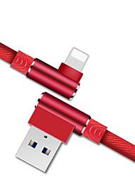 Недорогие -Подсветка Кабель Быстрая зарядка Терилен Адаптер USB-кабеля Назначение iPhone