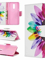 Недорогие -Кейс для Назначение LG LG V30 / LG V20 / LG Stylo 4 Кошелек / Защита от удара / со стендом Чехол Цветы Твердый Кожа PU / LG G6
