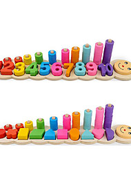Недорогие -Числа Геометрический узор Ручная работа Взаимодействие родителей и детей Дерево / Бамбук Детские Все Игрушки Подарок