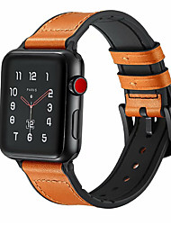 Недорогие -ремешок из натуральной кожи для часового ремешка Apple 44мм / 40мм / 42мм / 38мм для спортивной пряжки iwatch 1/2/3/4