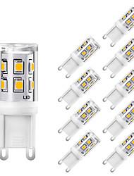 Недорогие -Мини g9 светодиодные кукурузные лампы керамические 220 В 2 Вт 15 светодиодов smd 2835 заменить 25 Вт свет лампы накаливания белый теплый белый для домашнего офиса хрустальные люстры освещения