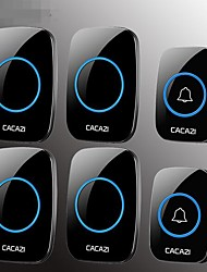 Недорогие -домашний беспроводной дверной звонок два буксира четыре переменного тока пульт дистанционного управления электронный дверной звонок старый абонент без проводов