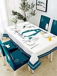 halpa -Nykyaikainen Vapaa-aika Puuvilla polyesterikuitua Neliö Cube Table Cloths Geometrinen Patterned Tulostus Vedenkestävä Pöytäkoristeet